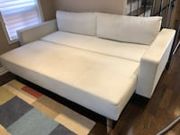 White leather sofabed Vaughan, L4H