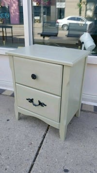 Green Nightstand / Bedside Table