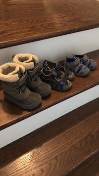 Boys boots and sandals, $6 per pair Oakville