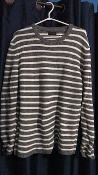 white and black striped long-sleeved shirt Mississauga, L5L 5H7