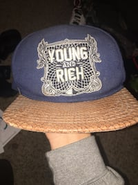 Young and rich SnapBack hat  1080 mi