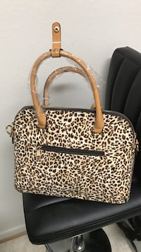 brown and black leopard print leather handbag Richmond, 23227
