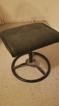 Black leather foot rest/ stool Gatineau, J8Y 5B8