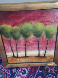 FRAMED TREE PAINTING  Elizabethton