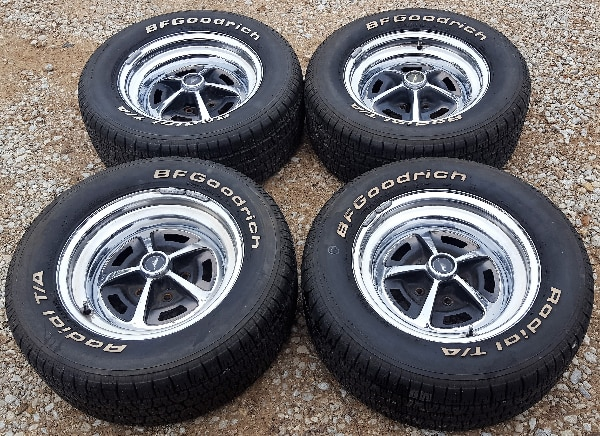 Magnum 500 Wheels >> Used 15 Ford Mustang Magnum 500 Wheels With 235 60 R15 Bf Goodrich