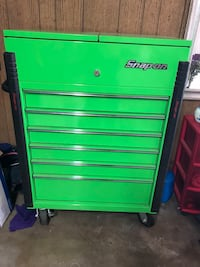 green Snap-On tool chest Colton, 92324