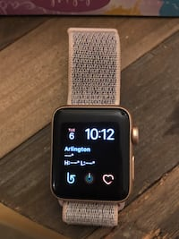 Apple Watch Series 3 (GPS + Cellular), 38mm Gold Aluminum Case with Pink Sand Sport Loop - Gold Aluminum Mc Lean, 22102