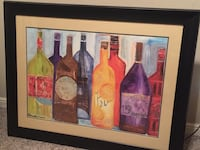 Bassett Art Collection Wine Bottle Picture paid over $200-  Owasso