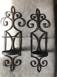 two black metal candle holders Willoughby, 44094