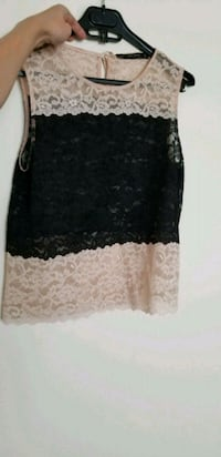 women's black/nude lace sleeveless blouse Calgary, T2V 0G6