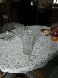 two clear glass candle holders Glyndon, 56547