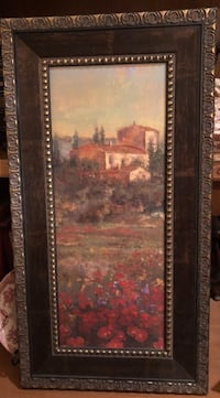 brown wooden framed painting of brown and red house Branson, 65616