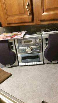 Radio and cassette/CD player