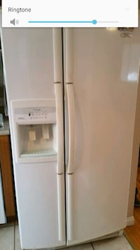 white side by side refrigerator with dispenser Saskatoon, S7V