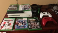 Xbox one console with controller and 5 games 2 controllers media remote headset charging station and rechargeable batteries Sparks, 89431