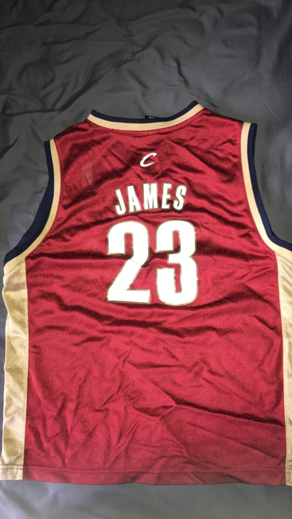 wholesale dealer f64c5 9ce03 Lebron James 23 Cleveland Cavaliers basketball jersey top