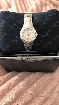 Bulova Watch Round mother of pearl silver-colored analog watch bracelet Anaheim, 92806