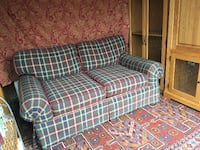 Plaid 2 Seats Couch - free local delivery