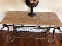 Pick up In magnolia heavy iron and marble table