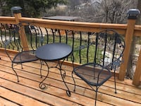 Bistro Iron Table and Chairs set for Porch Patio