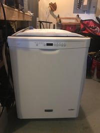 White and gray whirlpool top-load clothes washer Peachtree City, 30269
