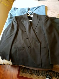 black peaked lapel suit jacket Victoria, V8Z 2E8