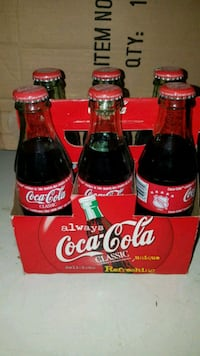 6-Pack NHL CocaCola Glass Bottles (2000)