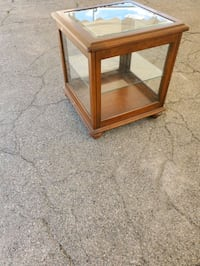 Small Glass Cabinet with Shelf