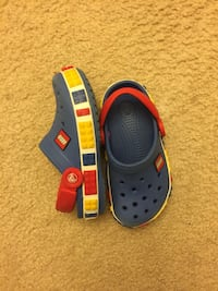 blue red and yellow lego rubber clogs Hyattsville, 20785