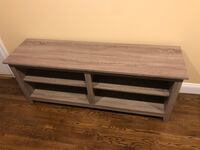 """TV stand, light driftwood color, up to 60"""" TV Boston, 02129"""