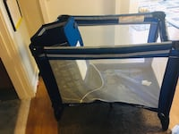 blue and black travel cot Alexandria, 22305