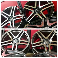 20 inches Mercedes Benz amg rims brand new blackmachine North Caldwell, 07006