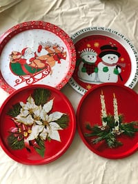 Christmas Tin Trays (some vintage ) Tracy, 95376