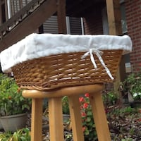 """Cloth-Lined Handmade Basket - 16"""" Square - Excellent Condition Chicago, 60622"""