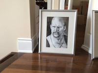Grey framed grayscale steve austin photo Vaughan, L0J 1C0