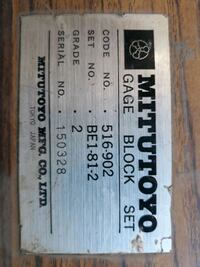 mitutoyo gage blocks grade 2 with step Mike's also gage pins full set  Bloomington, 92316
