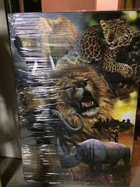 different kinds of animals in jungle collage painting Edmonton, T5W 4X5