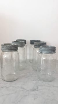 Lot of 6 Vintage Jewel Canning Jars Surrey