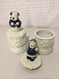 Snowman candle decor London, N6M 0E5