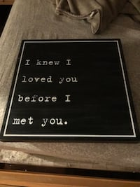 New Pottery Barn Kids I Knew I Loved You Before I Met You 20x20 Wood Wall Decor Rustic Paid $50  Plantation, 33322