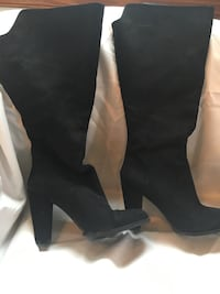 Wide calf suede boots size 7 Chesapeake, 23321
