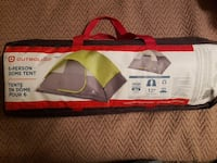 green and gray Outbound 6-person dome tent bag
