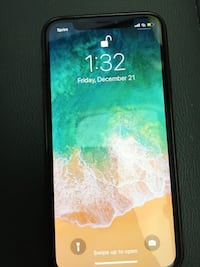 iPhone X. Carrier is Sprint, has a crack on the back and a small scratch on front that is hard to notice Clovis, 88101