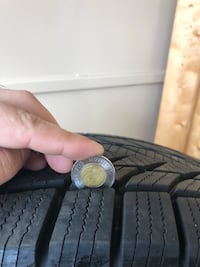 Used winter tires with rims 552 km