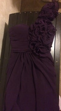 Dark purple one shoulder dress Lafayette