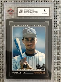 Graded 8 1993 Pinnacle Derek Jeter RC Toronto, M9B