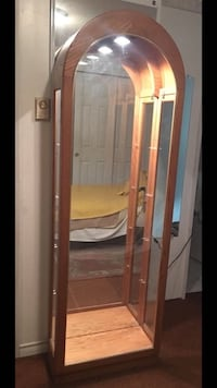 Brown wooden framed glass display cabinet Saanich, V9E 2E6