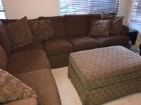 Brown  sectional couch with Ottoman opens for storage Sunnyvale, 94086
