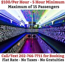 15 Passenger Party Bus - $500 for 5 hours