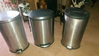 3 metal trash cans 10.00 each Gaithersburg, 20877